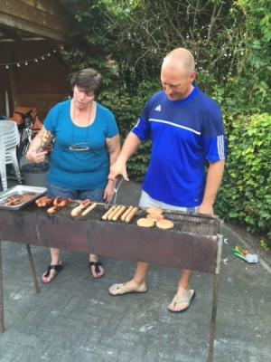 Barbeque ouders trainingsweekend